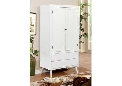 Lennart II White Armoire,Furniture of America