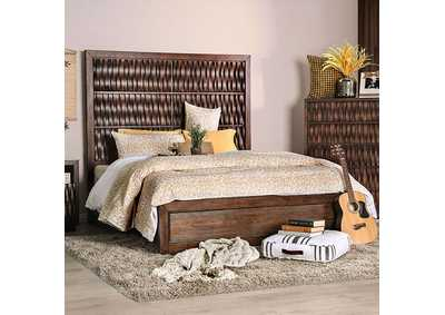 Eutropia Warm Chestnut Queen Platform Bed