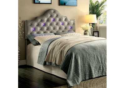 Aldebaran Gray Upholstered King Headboard