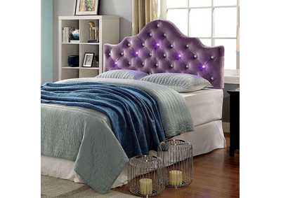 Aldebaran Purple Upholstered King Headboard