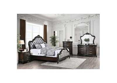 Image for Bethesda Espresso Upholstered Queen Panel Bed
