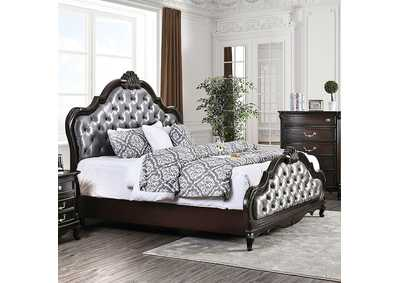 Image for Bethesda Espresso Upholstered California King Panel Bed