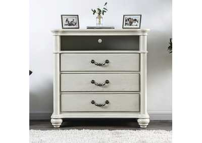 Fantasia White Media Chest,Furniture of America