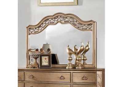 Image for Capella Brushed Gold Mirror