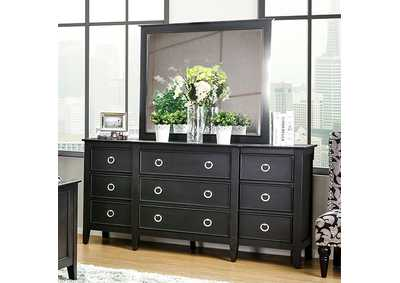 Arabelle Wire-Brushed Black Dresser