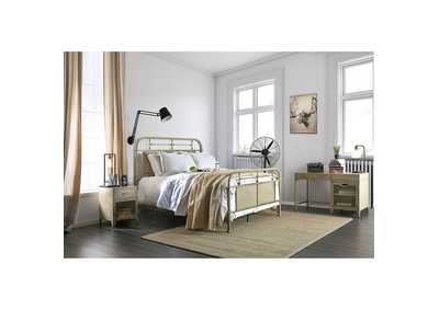 Image for Haldus Ivory Twin Panel Bed