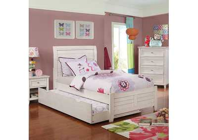 Image for Brogan White Storage Twin Bed