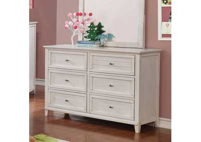 Brogan White Dresser,Furniture of America