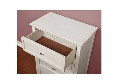 Brogan White Nightstand