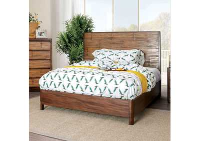 Covilha Brown Queen Platform Bed