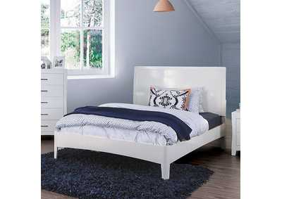 Deanne White Queen Platform Bed