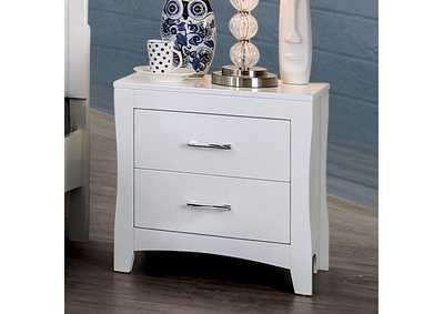 Deanne White 2 Drawer Nightstand