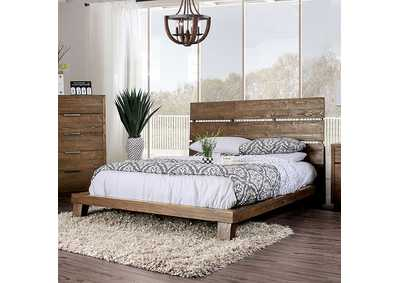 Tolna Brown Eastern King Platform Bed