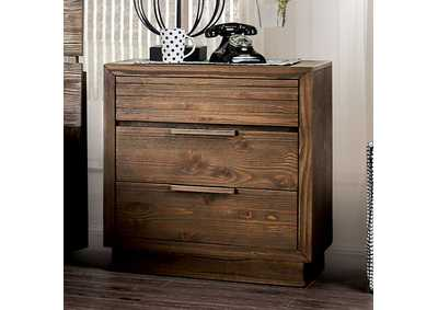 Tolna Brown 3 Drawer Nightstand