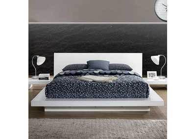 Christie White California King Platform Bed