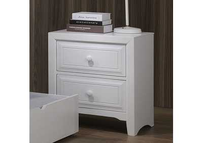 Kirsten White 2 Drawer Nightstand