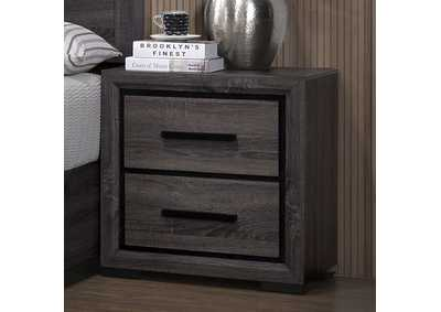 Conwy Gray 2 Drawer Nightstand
