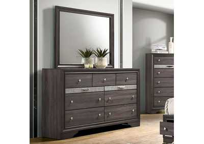 Chrissy Grey Dresser w/Mirror