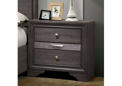 Chrissy Gray 2 Drawer Nightstand