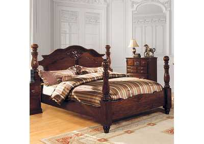 Image for Tuscan II Dark Pine Queen Poster Bed