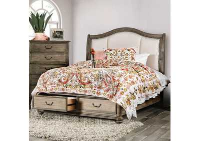 Image for Belgrade I Rustic Natural Tone Queen Upholstered Storage/Platform Bed