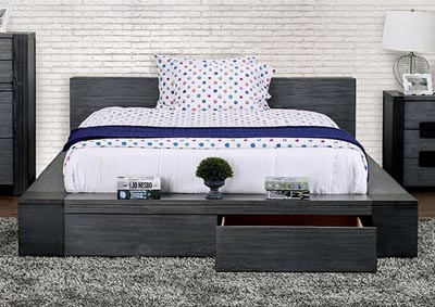 Image for Janeiro Gray California King Platform Bed