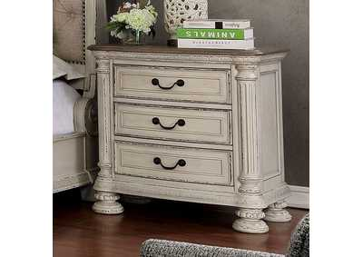 Image for Lysandra White Night Stand/ W USB