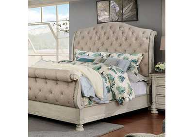 Lysandra White Cal.King Sleigh Bed
