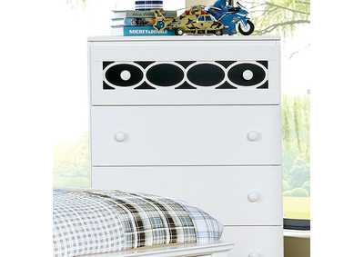 Cammi Blue/White Drawer Chest