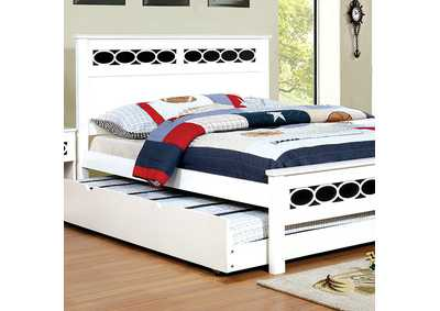 Cammi Blue/White Full Platform Bed