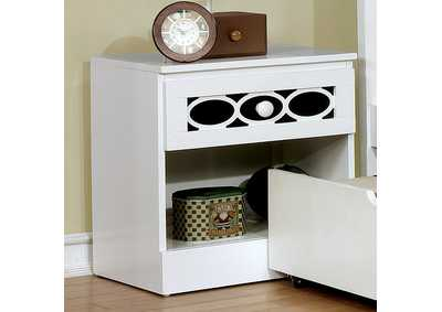 Cammi Blue/White Nightstand