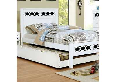 Cammi Blue/White Twin Platform Bed