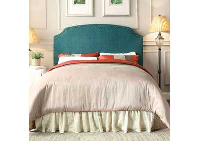 Image for Hasselt Dark Teal Queen/Full Upholstered Headboard