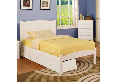 Image for Caren White Twin Platform Bed