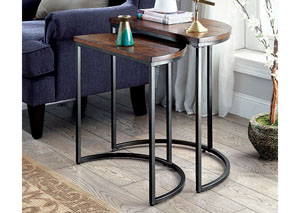 Uma Medium Weathered Oak Nesting Table