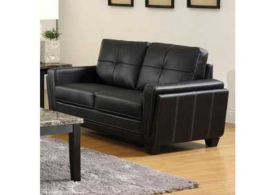 Image for Blacksburg Black Loveseat