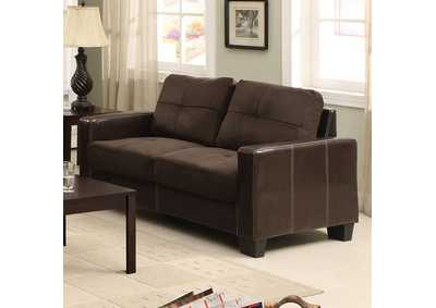 Image for Laverne Chocolate Loveseat