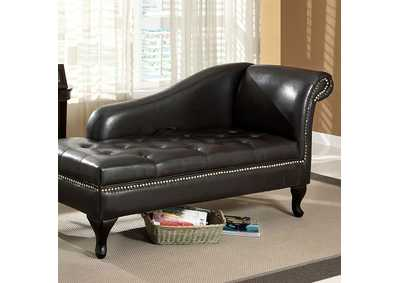 Image for Lakeport Black Storage Chaise w/Nailhead Trim