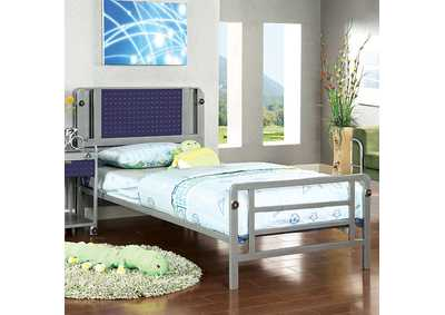 Image for Prado I Silver & Dark Blue Full Platform Bed