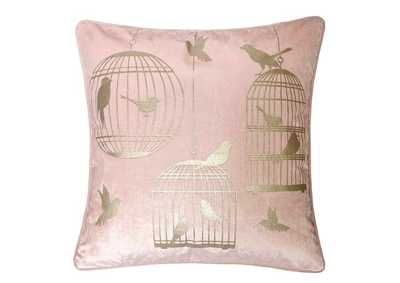 Rina Pink Accent Pillow (Set of 2)