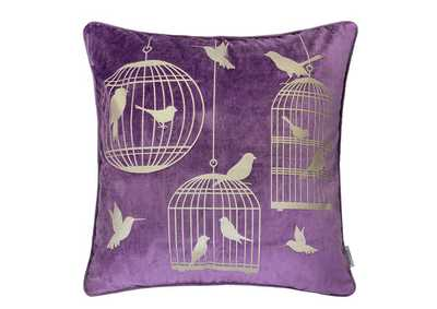 Rina Purple Accent Pillow (Set of 2)