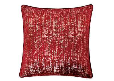 Image for Belle Red Accent Pillow (Set of 2)