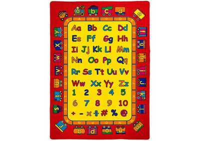 Image for Abbey 5' X 8' Alphabet/Red Area Rug