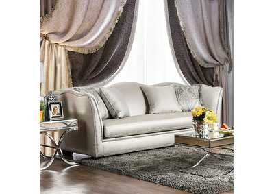 Alessandra Silver Sofa w/Pillows