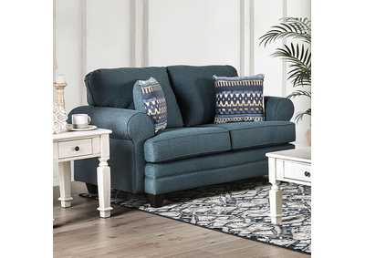 Image for Aylmer Teal Love Seat