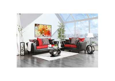 Image for Braelyn Black/Red Loveseat