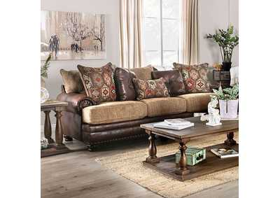 Fletcher Brown Stationary Sofa