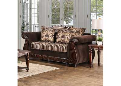 Thales Brown Loveseat