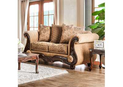 Nicanor Gold Loveseat