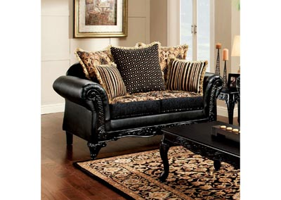 Theodora Black Loveseat